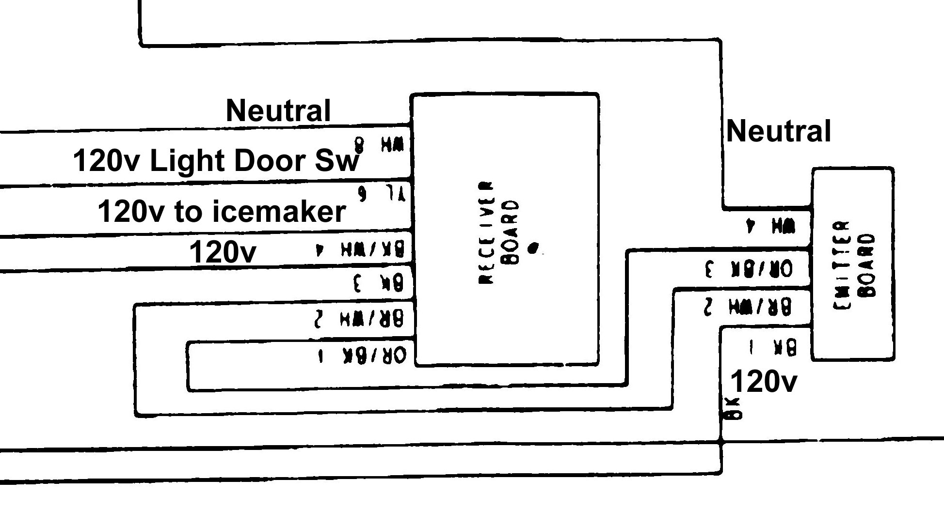 This is the wiring diagram for the  ice in the door  model (the one with the LED  full  detector) These are the LED cards  sc 1 st  HomeOwnersu0027 Hub : whirlpool refrigerator wiring diagram - yogabreezes.com